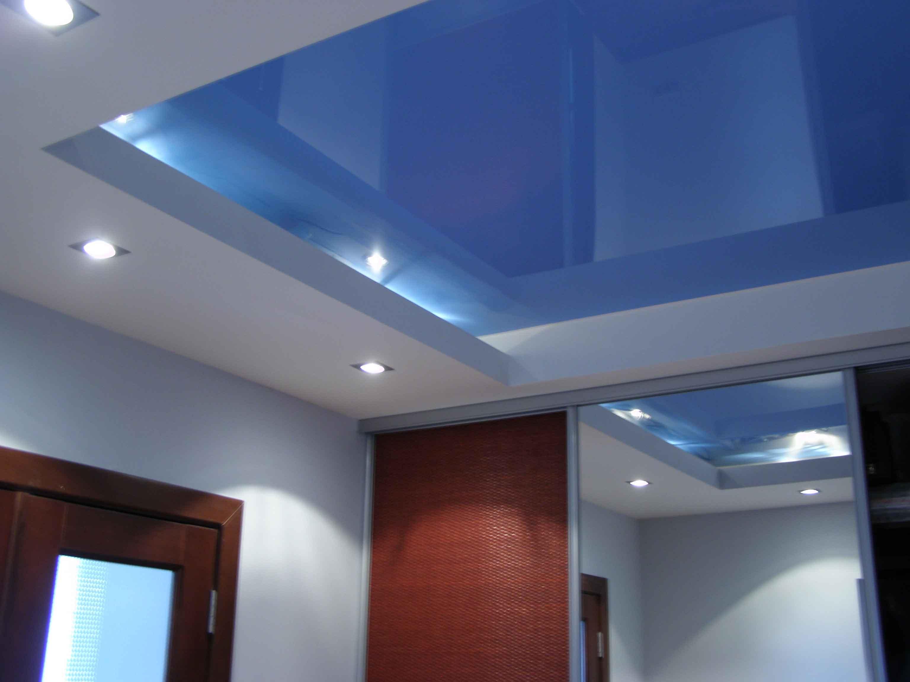 Подвесные двухуровневые потолки фото